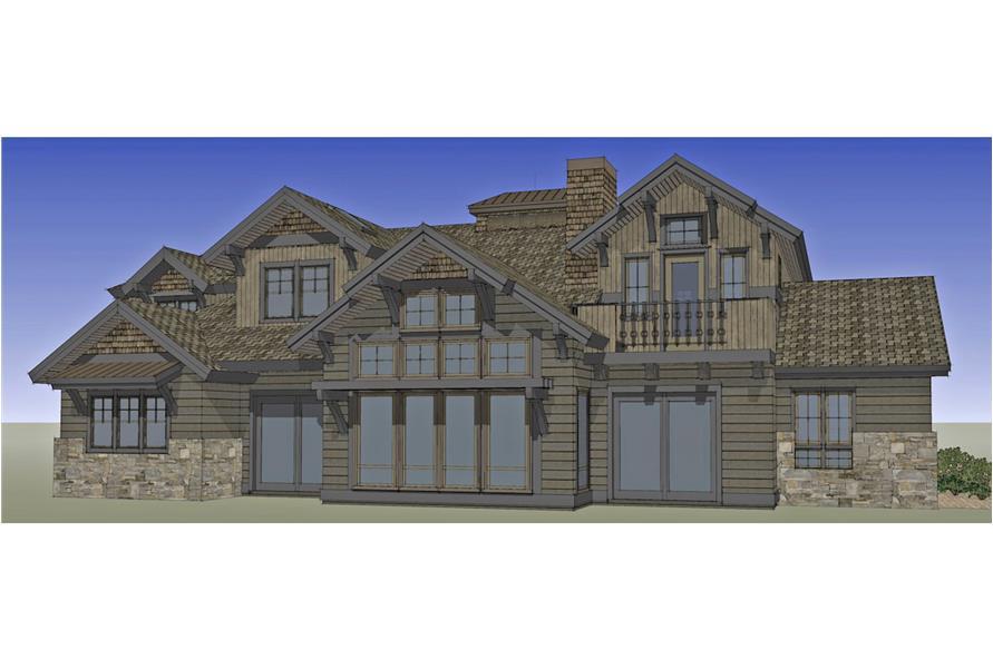 Home Plan Rendering of this 4-Bedroom,4268 Sq Ft Plan -4268