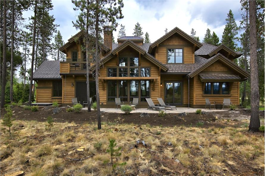 Rear View of this 4-Bedroom,4268 Sq Ft Plan -4268