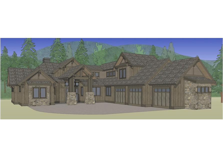 Home Plan Rendering of this 4-Bedroom,3691 Sq Ft Plan -3691