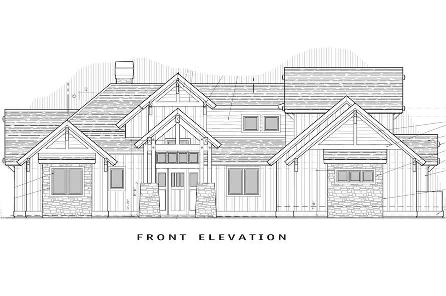 Home Plan Front Elevation of this 4-Bedroom,3691 Sq Ft Plan -202-1007