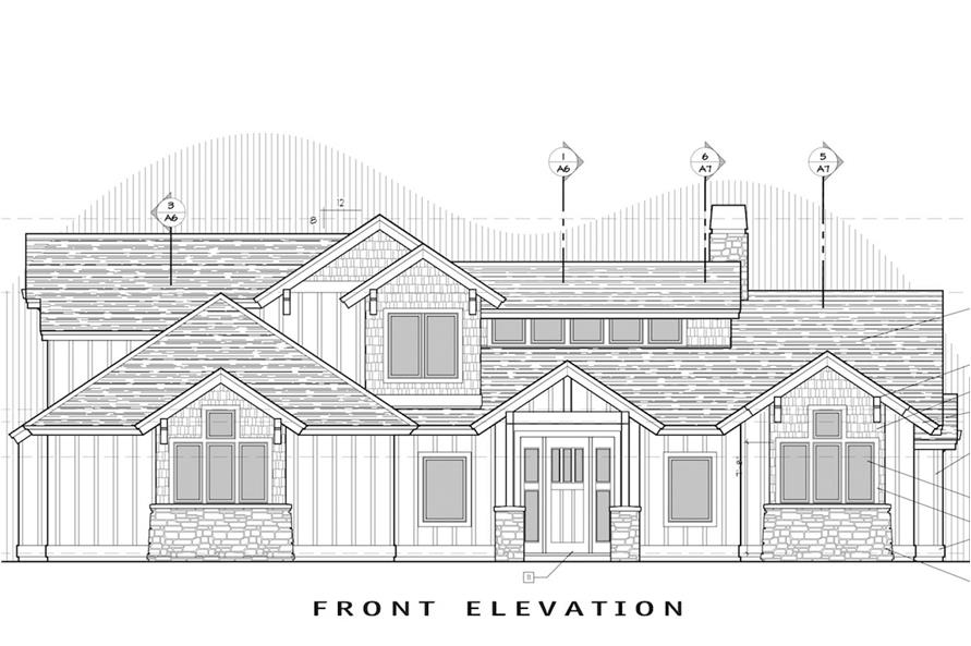 Home Plan Front Elevation of this 3-Bedroom,2360 Sq Ft Plan -202-1008