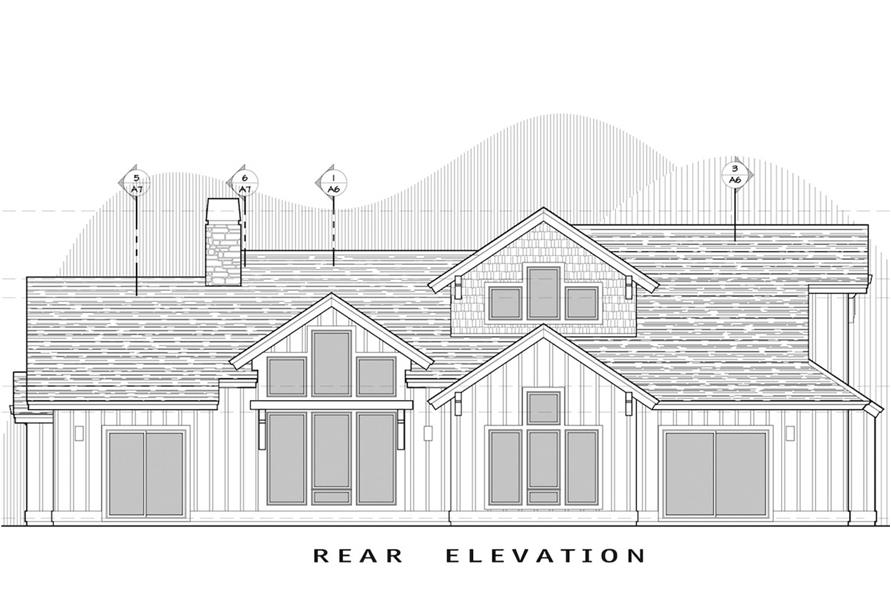 Home Plan Rear Elevation of this 3-Bedroom,2360 Sq Ft Plan -202-1008