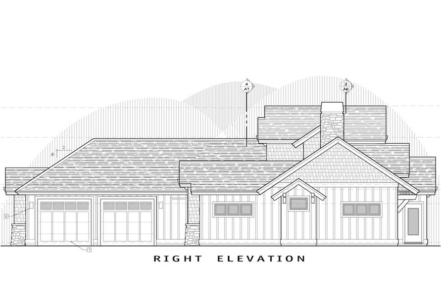 Home Plan Right Elevation of this 3-Bedroom,2360 Sq Ft Plan -202-1008