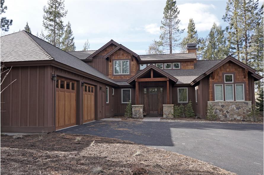 3-Bedroom, 2360 Sq Ft Rustic Home Plan - 202-1008 - Main Exterior