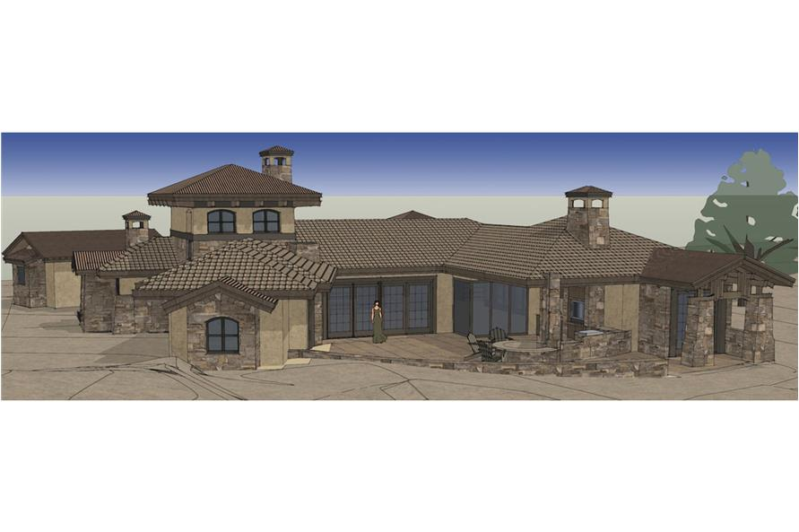 Rear View of this 3-Bedroom,3579 Sq Ft Plan -3579