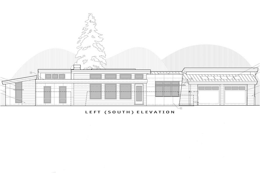 Home Plan Left Elevation of this 2-Bedroom,2331 Sq Ft Plan -202-1011