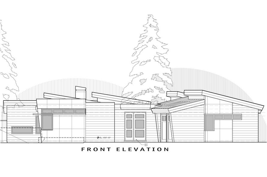 Home Plan Front Elevation of this 2-Bedroom,2331 Sq Ft Plan -202-1011