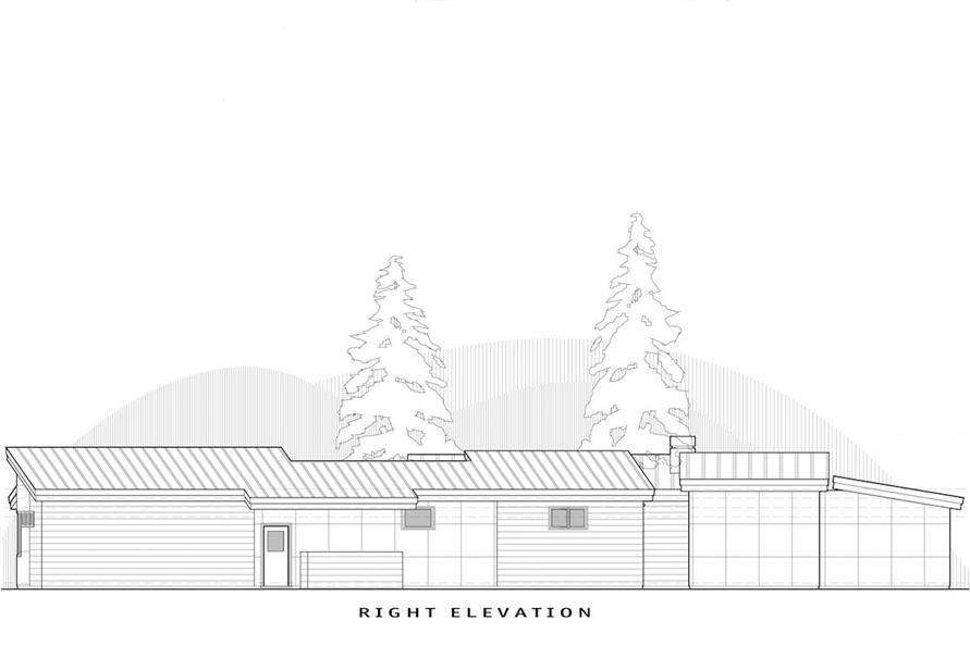 Home Plan Right Elevation of this 2-Bedroom,2331 Sq Ft Plan -202-1011
