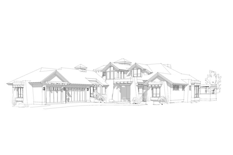 Home Plan Rendering of this 4-Bedroom,3513 Sq Ft Plan -3513