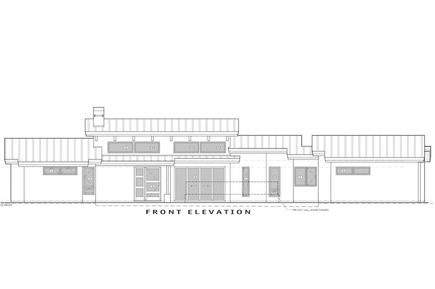Home Plan Front Elevation of this 3-Bedroom,3264 Sq Ft Plan -202-1013