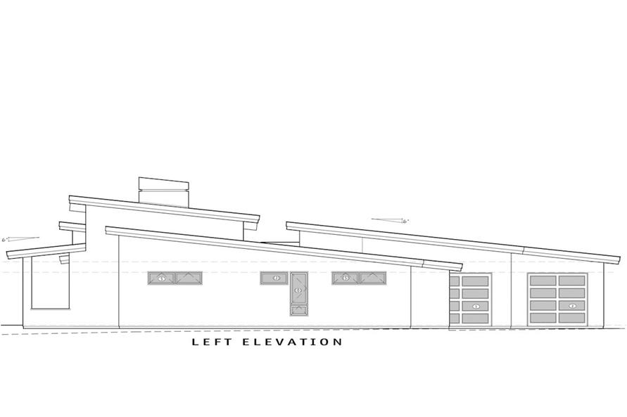 Home Plan Left Elevation of this 3-Bedroom,3264 Sq Ft Plan -202-1013