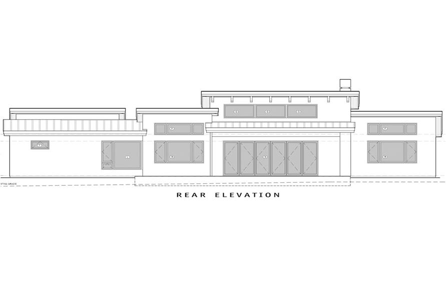Home Plan Rear Elevation of this 3-Bedroom,3264 Sq Ft Plan -202-1013