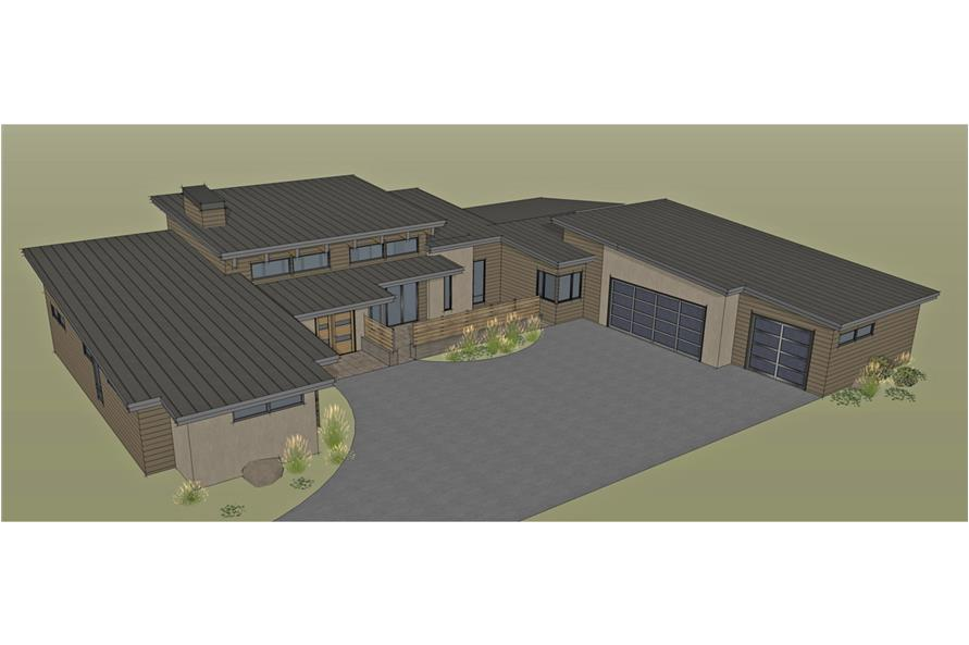 Home Plan Rendering of this 3-Bedroom,3264 Sq Ft Plan -3264
