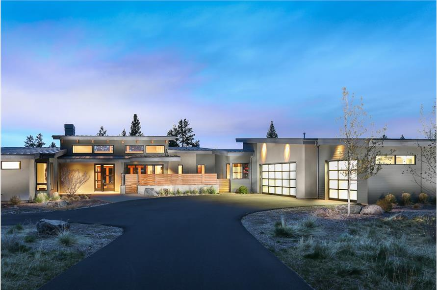3-Bedroom, 3264 Sq Ft Contemporary Home - Plan #202-1013 - Main Exterior