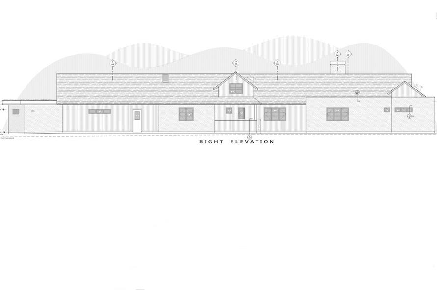 Home Plan Right Elevation of this 3-Bedroom,3832 Sq Ft Plan -202-1014