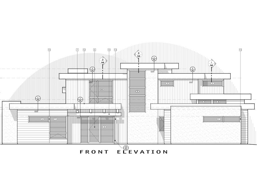 Home Plan Front Elevation of this 4-Bedroom,3712 Sq Ft Plan -202-1015