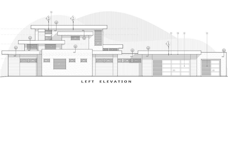 Home Plan Left Elevation of this 4-Bedroom,3712 Sq Ft Plan -202-1015