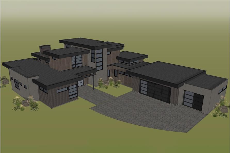 Home Plan Rendering of this 4-Bedroom,3712 Sq Ft Plan -202-1015