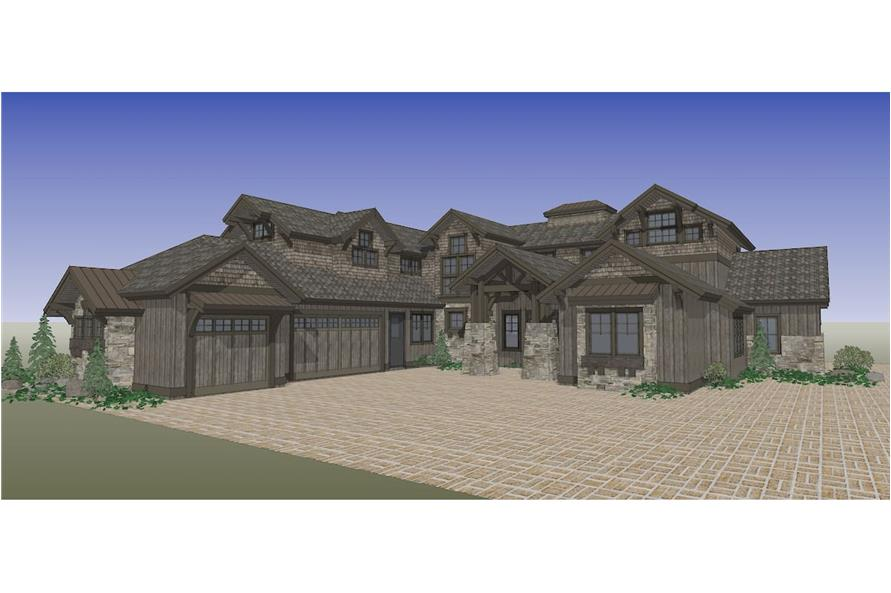 Home Plan Rendering of this 5-Bedroom,4964 Sq Ft Plan -202-1016