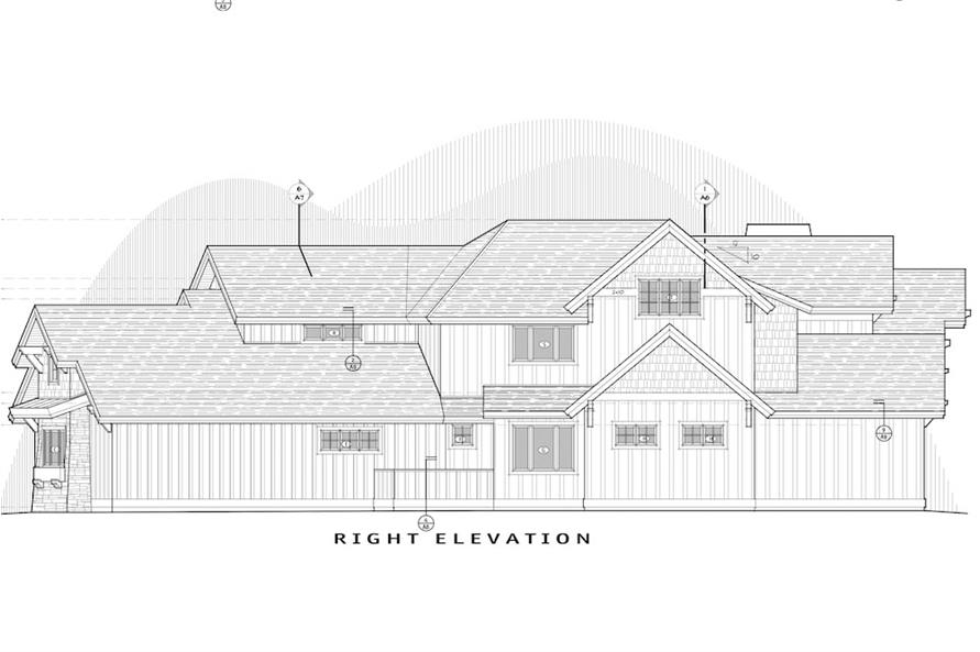 Home Plan Right Elevation of this 5-Bedroom,4412 Sq Ft Plan -202-1017