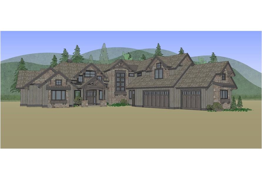 Home Plan Rendering of this 5-Bedroom,4412 Sq Ft Plan -4412