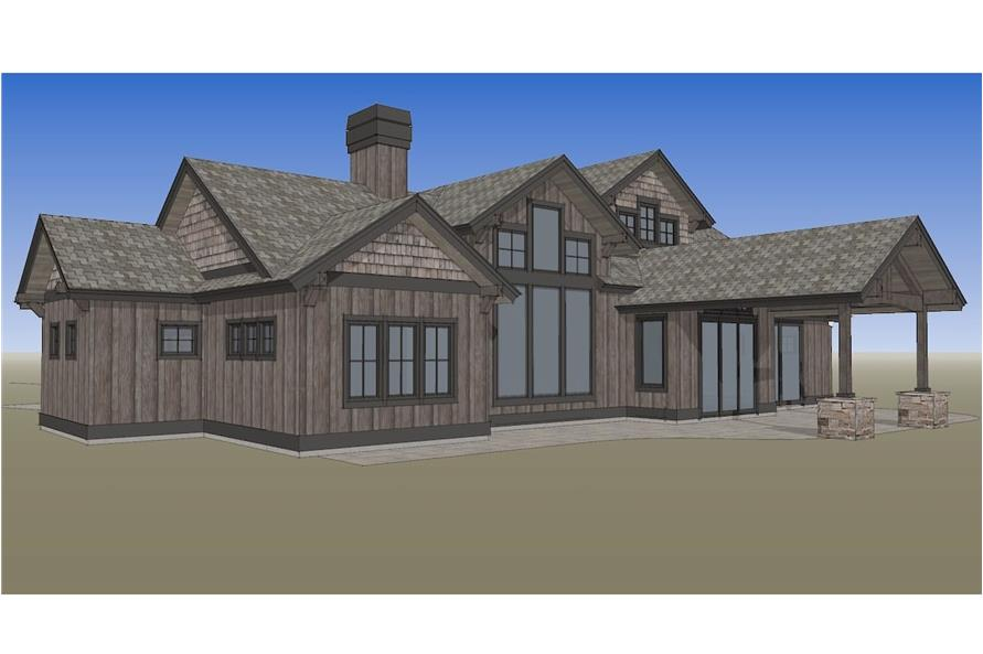 Home Plan Rendering of this 3-Bedroom,2554 Sq Ft Plan -202-1018