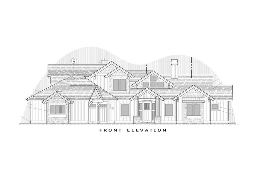 Home Plan Front Elevation of this 3-Bedroom,2554 Sq Ft Plan -202-1018