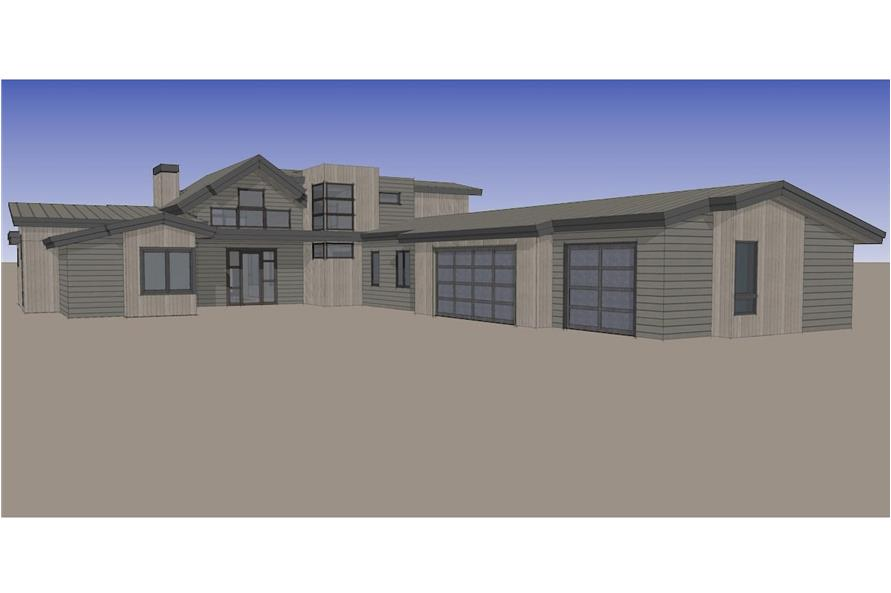Home Plan Rendering of this 5-Bedroom,3275 Sq Ft Plan -3275