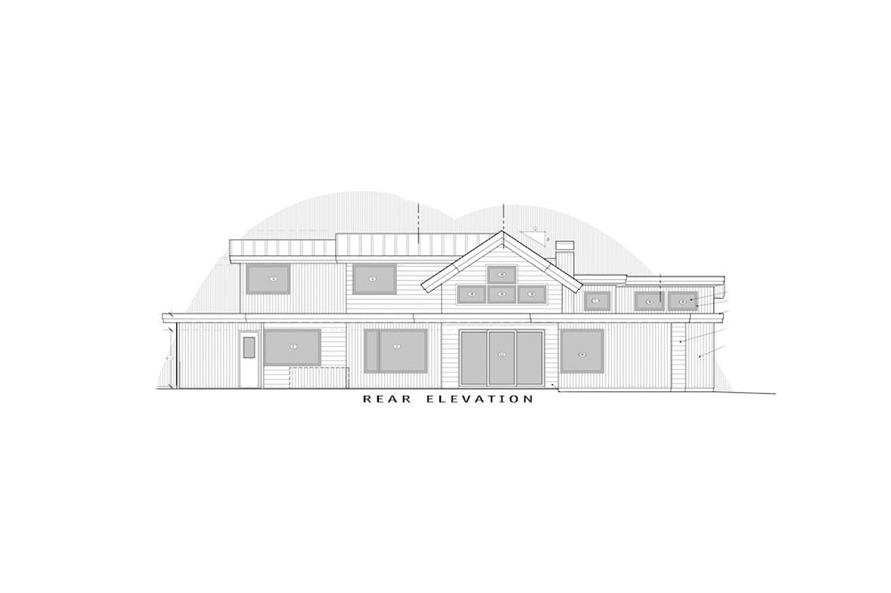 Home Plan Rear Elevation of this 5-Bedroom,3275 Sq Ft Plan -202-1019