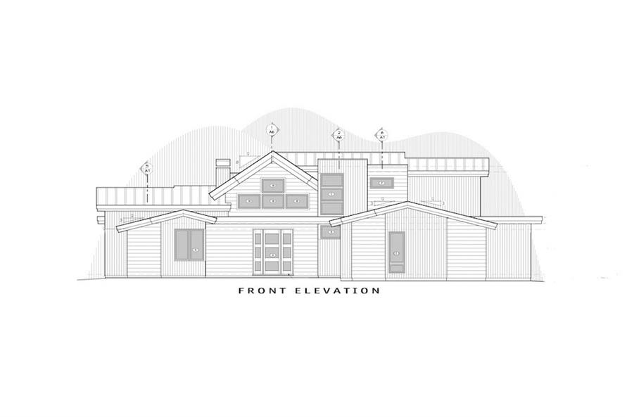 Home Plan Front Elevation of this 5-Bedroom,3275 Sq Ft Plan -202-1019