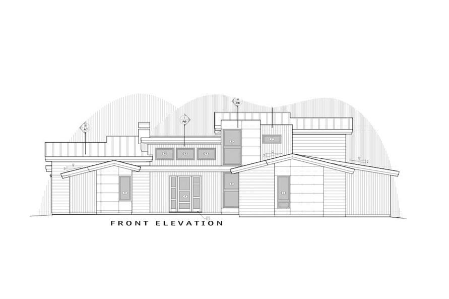 Home Plan Front Elevation of this 5-Bedroom,3217 Sq Ft Plan -202-1021