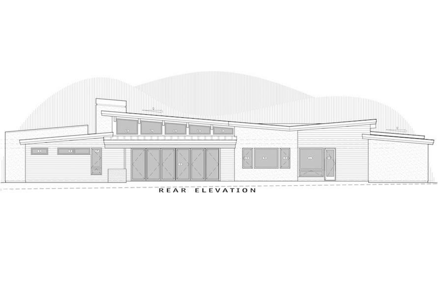 202-1022: Home Plan Rear Elevation