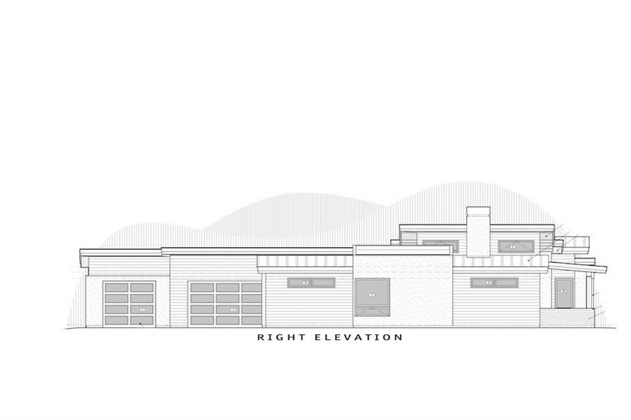 202-1022: Home Plan Right Elevation