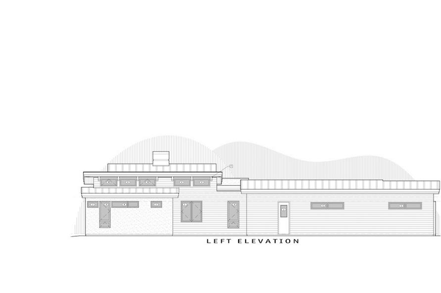 Home Plan Left Elevation of this 3-Bedroom,3312 Sq Ft Plan -202-1022