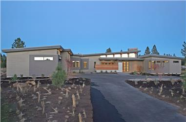 3-Bedroom, 3312 Sq Ft Modern Home - Plan #202-1022 - Front Exterior