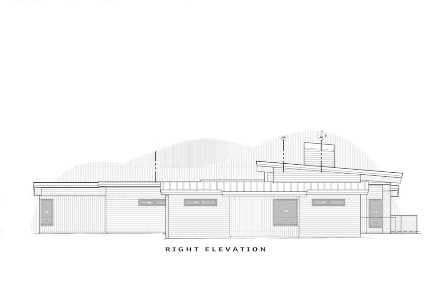 Home Plan Right Elevation of this 3-Bedroom,3338 Sq Ft Plan -202-1025