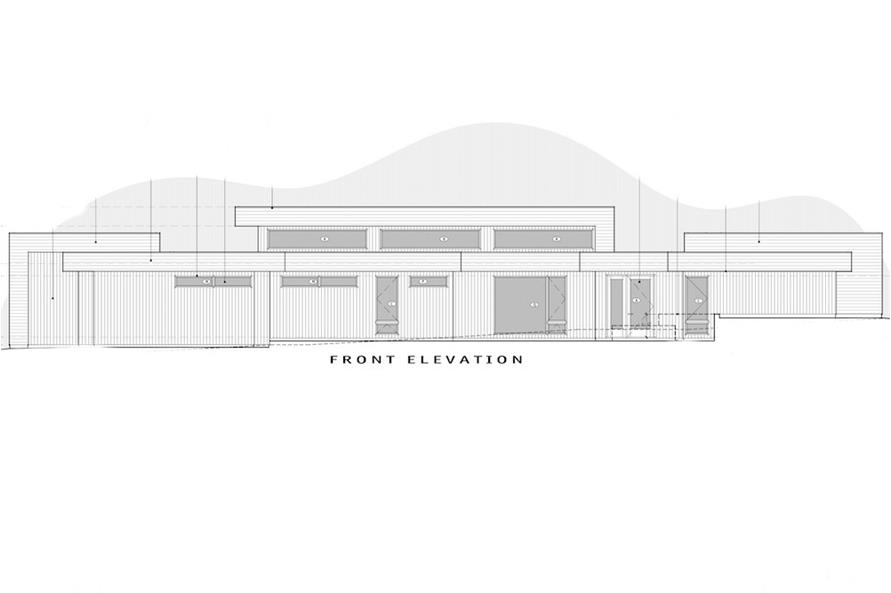 Home Plan Front Elevation of this 3-Bedroom,3665 Sq Ft Plan -202-1027