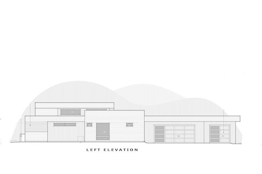 Home Plan Left Elevation of this 3-Bedroom,3665 Sq Ft Plan -202-1027