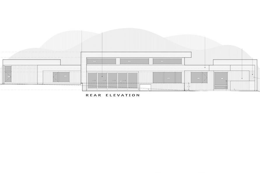 Home Plan Rear Elevation of this 3-Bedroom,3665 Sq Ft Plan -202-1027