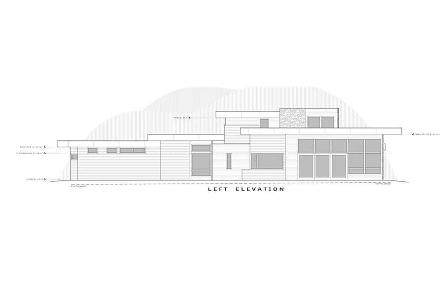 Home Plan Left Elevation of this 4-Bedroom,3837 Sq Ft Plan -202-1031