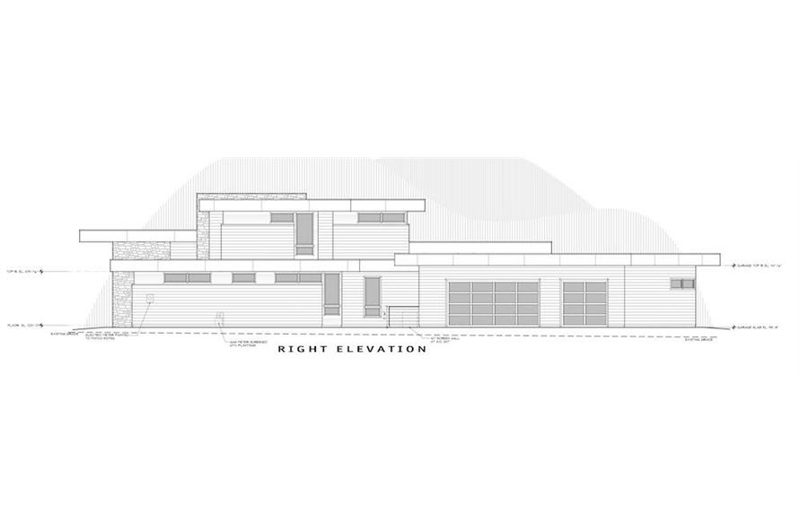 Home Plan Right Elevation of this 4-Bedroom,3837 Sq Ft Plan -202-1031