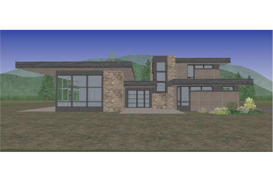 Front View of this 4-Bedroom,3837 Sq Ft Plan -202-1031