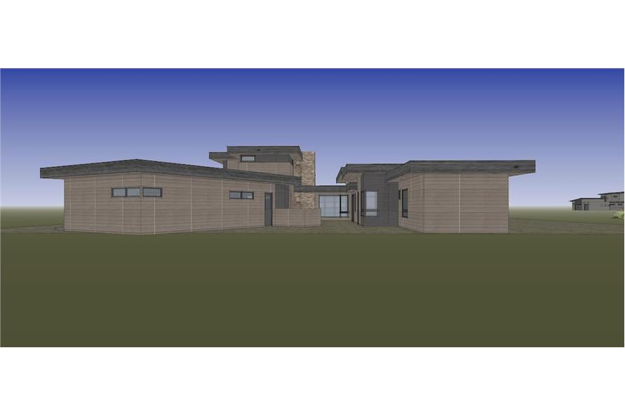 Rear View of this 4-Bedroom,3837 Sq Ft Plan -202-1031