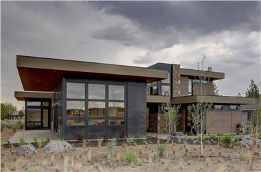 4-Bedroom, 3837 Sq Ft Modern Home - Plan #202-1031 - Main Exterior