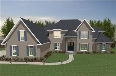 5-Bedroom, 4654 Sq Ft European House Plan - 203-1003 - Front Exterior