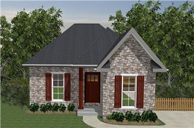 2-Bedroom, 800 Sq Ft European House Plan - 203-1006 - Front Exterior