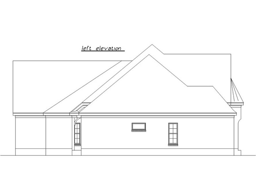 Home Plan Left Elevation of this 3-Bedroom,3230 Sq Ft Plan -203-1007