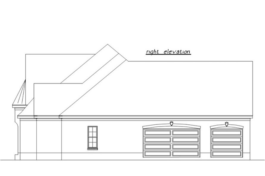 Home Plan Right Elevation of this 3-Bedroom,3230 Sq Ft Plan -203-1007
