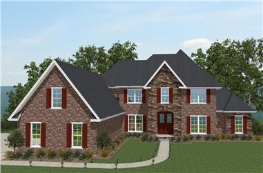 5-Bedroom, 4001 Sq Ft European Home Plan - 203-1009 - Main Exterior