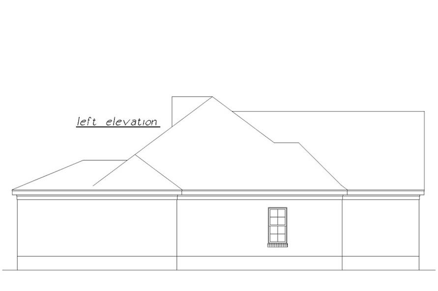 Home Plan Left Elevation of this 3-Bedroom,1639 Sq Ft Plan -203-1023